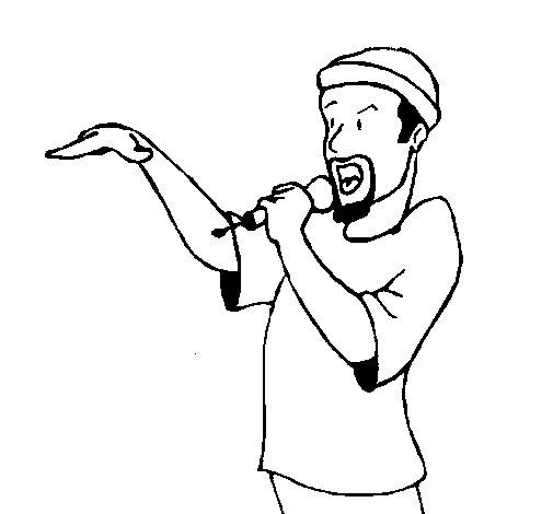 Dibujo de Rapero para Colorear