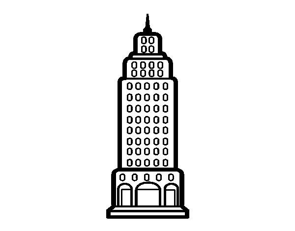 Dibujo de Rascacielos para Colorear  Dibujosnet