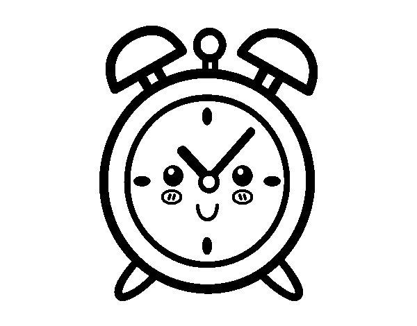 Dibujo de reloj despertador para colorear - Dibujos de relojes para imprimir ...