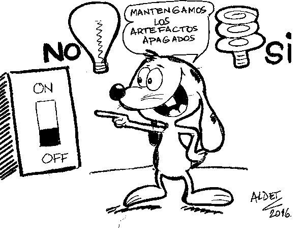 Dibujo de Renato y el ahorro de luz para Colorear