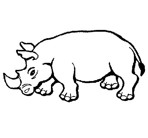 Dibujo de Rinoceronte 2 para Colorear