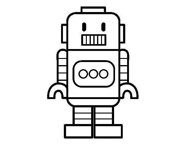 Dibujo de Robot alto para Colorear