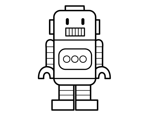 Dibujo de Robot alto para Colorear - Dibujos.net