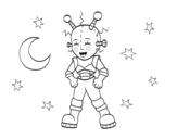 Dibujo de Robot astronauta para colorear