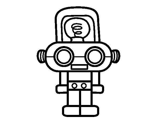 Dibujo de Robot con luz para Colorear