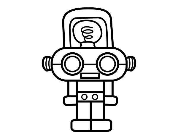 Worksheet. Dibujos faciles de robots  Imagui