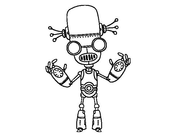 Dibujo de Robot malvado para Colorear