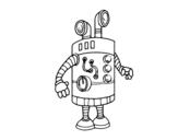 Dibujo de Robot periscopio para colorear