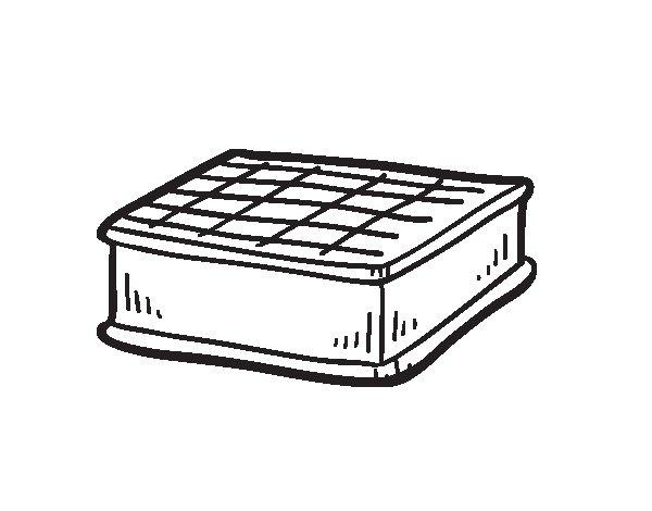 Dibujo de Sándwich helado para Colorear