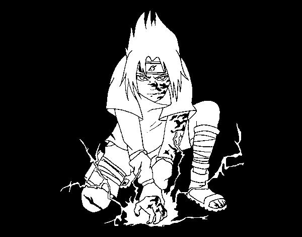 Dibujo de Sasuke para Colorear - Dibujos.net