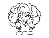 Dibujo de Señor brócoli para colorear