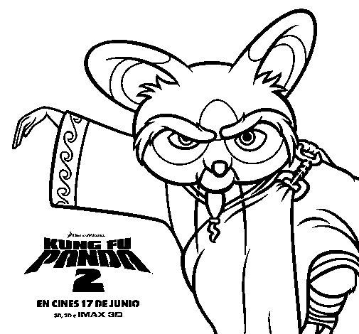 Dibujo de Shifu 2 para Colorear