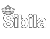 Dibujo de Sibila para colorear