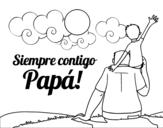 Dibujo de Siempre contigo papá