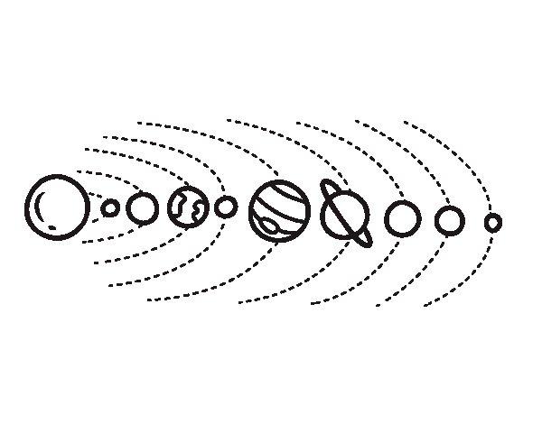 Dibujo de Sistema solar para Colorear