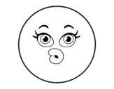 Dibujo de Smiley dudoso  para colorear