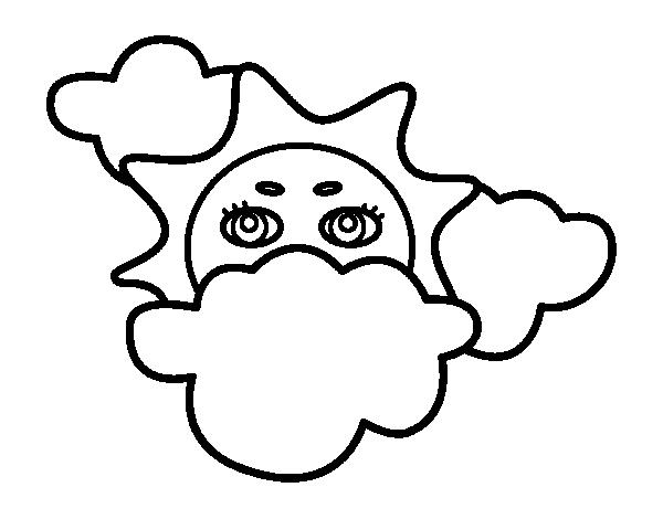 Dibujos Del Sol A Color: Sol Con Nubes Imagenes Infantiles Para Colorear