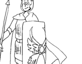 Dibujo de Soldado romano II para colorear