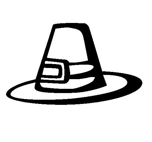 Dibujo de Sombrero peregrino para Colorear