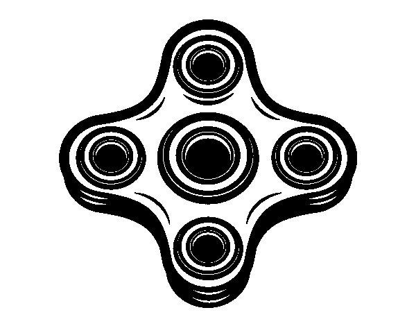 Dibujo de Spinner de 4 puntas para Colorear