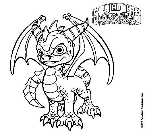 Dibujo de Spyro para Colorear