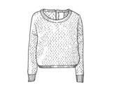 Dibujo de Suéter de lana para colorear