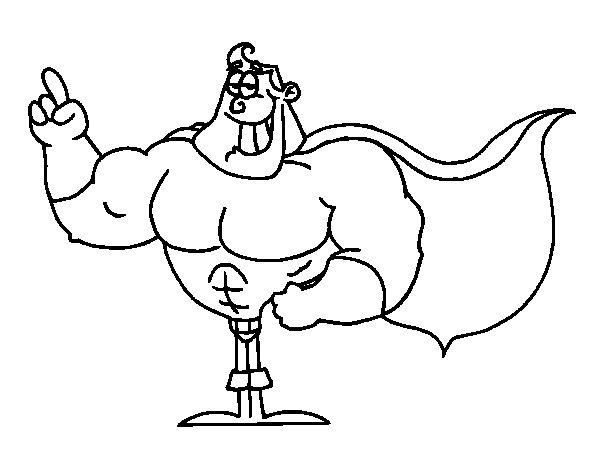 Dibujo de Superhéroe para Colorear