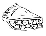 Dibujo de Tarta de fruta para colorear