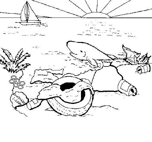 Dibujo de Tierra contaminada para Colorear - Dibujos.net