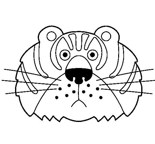 Dibujo de Tigre III para Colorear - Dibujos.net