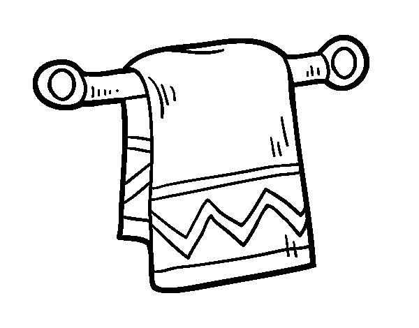 Dibujo de Toalla de mano para Colorear