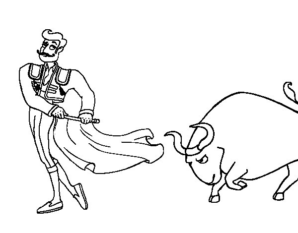 Dibujo de Torero para Colorear