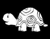 Dibujo de Tortuga alegre para colorear