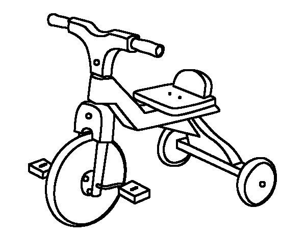 Juegos Dibujos Para Colorear Infantiles: Dibujo De Triciclo Infantil Para Colorear