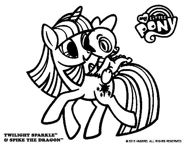 Dibujo de Twilight Sparkle para Colorear