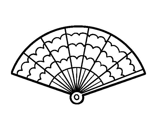 Dibujo de Un abanico para Colorear