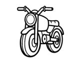 Dibujo de Un ciclomotor para colorear