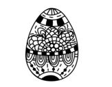 Dibujo de Un huevo de Pascua floral para colorear