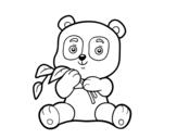 Dibujo de Un oso panda