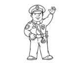 Dibujo de Un polícia para colorear