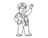 Dibujo de Un polícia