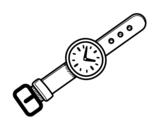 Dibujo de Un reloj de muñeca para colorear