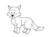Dibujo de Un zorro para colorear