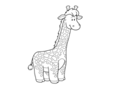 Dibujo de Una jirafa africana para colorear