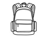 Dibujo de Una mochila escolar para colorear