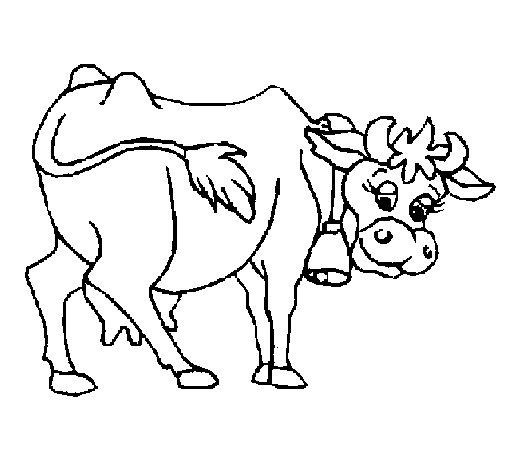 Dibujo de Vaca 2 para Colorear