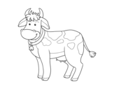 Dibujo de Vaca de granja para colorear