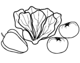 Dibujo de Verduras 1 para colorear