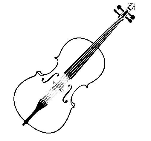 Dibujo de Violín para Colorear