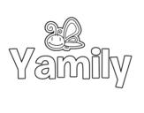Dibujo de Yamily para colorear